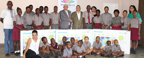 Special needs learners receive TV's to stay abreast of current affairs