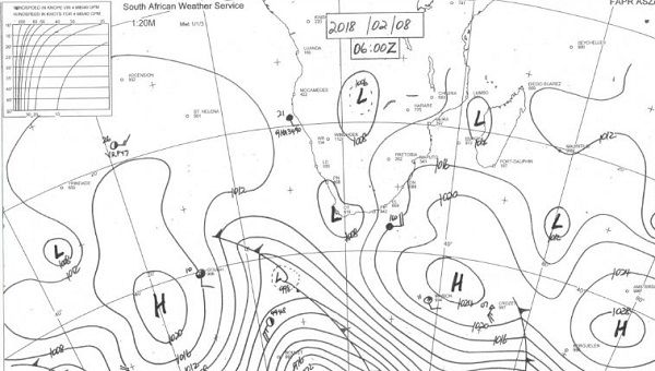 Synoptic Map For Southern Africa At Friday