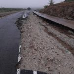 Flood water damages road between Opuwo and Omakange