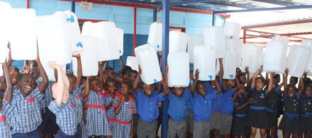 Bucket tap containers set to reduce the spread of diseases at Primary schools