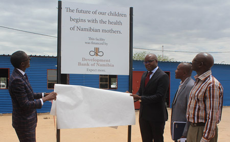 Development Bank invests in the health and safety of expecting mothers in the Omusati Region