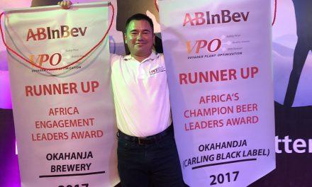 AB InBev Namibia bags prestigious brewery awards