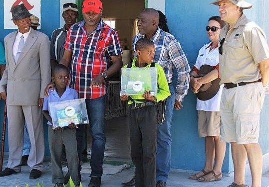 Ongava reaches out to Etosha and nearby farm schools with stationery for 683 learners