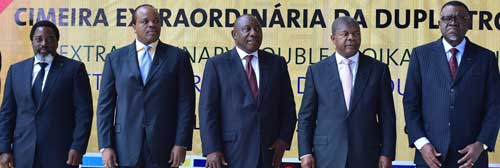 Geingob attends Double Troika in Angola
