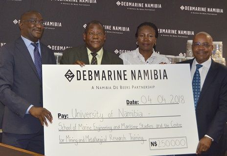 Diamond miner floats seed funding for new maritime training institution in UNAM stable