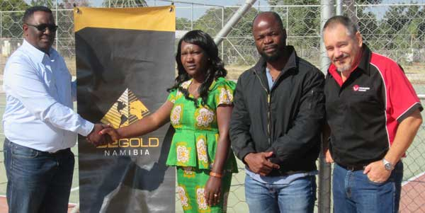 Gold mining firm joins in the development of sports facilities in Otavi