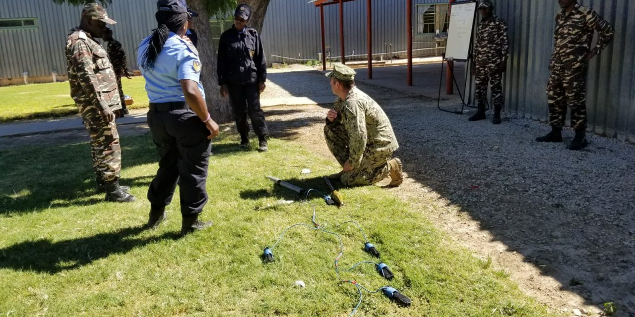 Security forces trained on explosive ordnance disposal