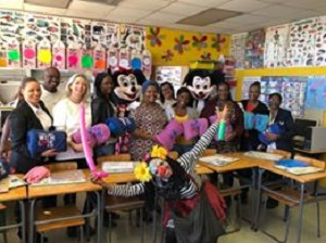 Humble gesture brings enormous joy when Mickey Mouse visited small cancer patients