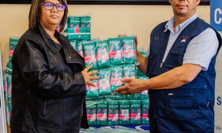 Namport donates 2000 sanitary wear to disadvantaged girls in the Karas Region