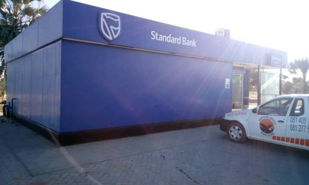 Nkurenkuru Standard Bank closes on account of break in