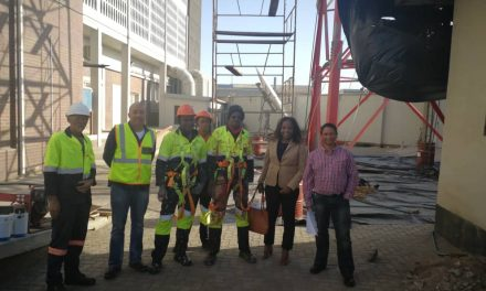 PowerCom's tower refurbishment in Walvis Bay to improve communication network coverage