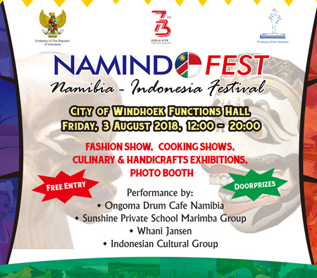 Windhoek City to host Namibia-Indonesia Festival on Friday