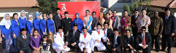 Indonesia celebrates 73 Years of Independence with the locals