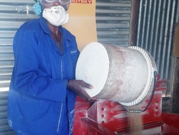 Crushing Mahangu fast becoming an established brand in Oshana Region for female entrepreneur