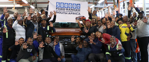 Ford Ranger production hits the 500,000 Milestone in SA