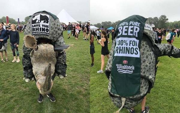 Windhoek Lager brings worldwide rhino conservation to the Isles