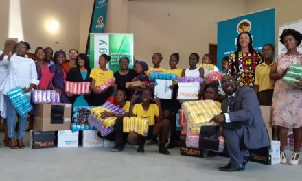 School girls from Omaheke region receive sanitary wear