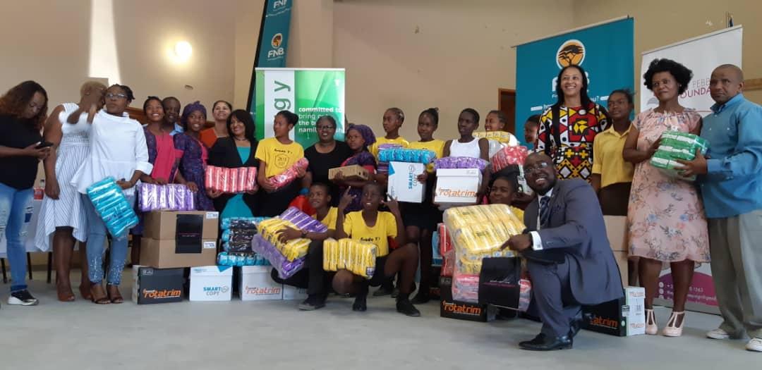 School girls from Omaheke region receive sanitary wear