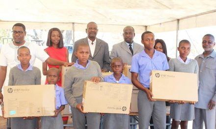 Petroleum Corporation's computer donation connects Xungileni Primary School learners to the rest of the world