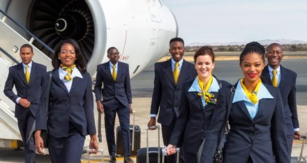 Air Namibia employees stage peaceful demonstration