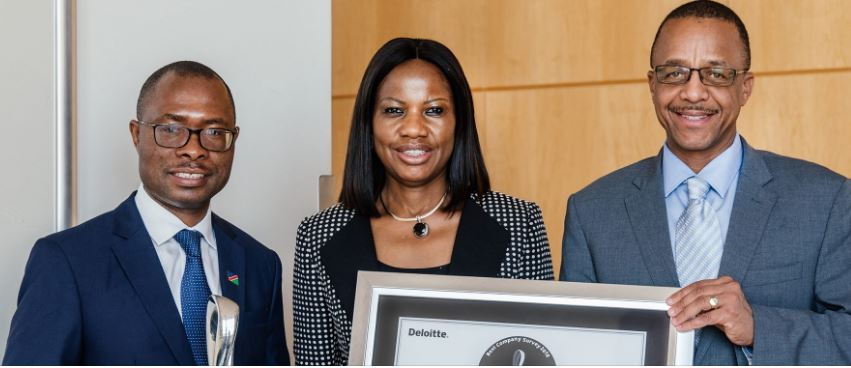Central Bank awarded Platinum Seal of Achievement  in the Small/Medium Size Company Category at Deloittes annual awards ceremony