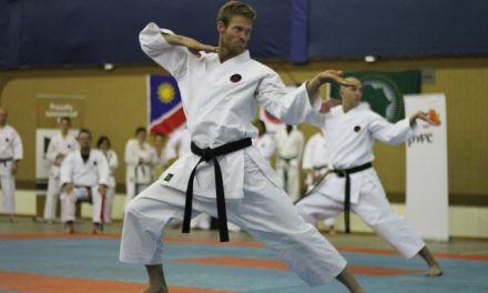 Free self defence class takes participants through the basics of Goju-Ryu