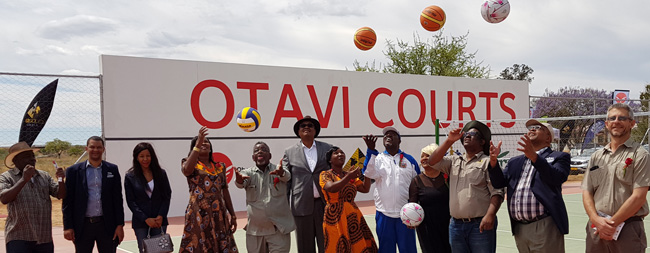 Corporates contribute to the upliftment of Otavi's community – hand over sporting facilities
