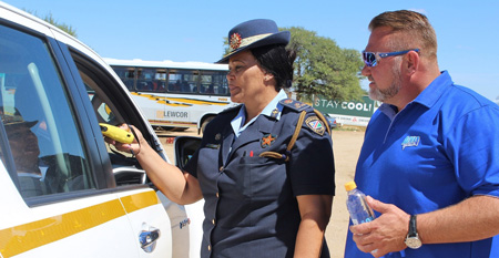 Breweries continues to promote safe and accident free roads – donates breathalysers to NamPol