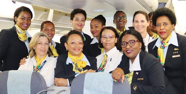 All-female crew makes history piloting an Airbus A330 from Windhoek to Frankfurt and back