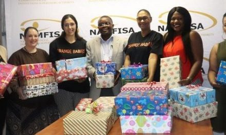 Even regulators have hearts – Orange Babies children each gets a Christmas shoebox with personal items