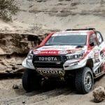 Hidden rock sinks De Villiers / Von Zitzewitz Hilux team in first Dakar marathon stage