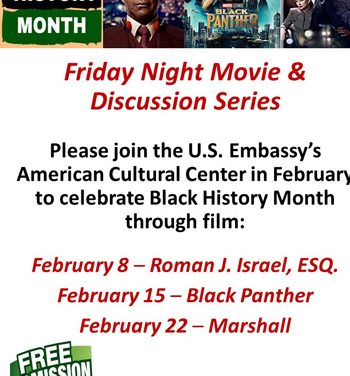 Black History Month to be celebrated through movies and discussions