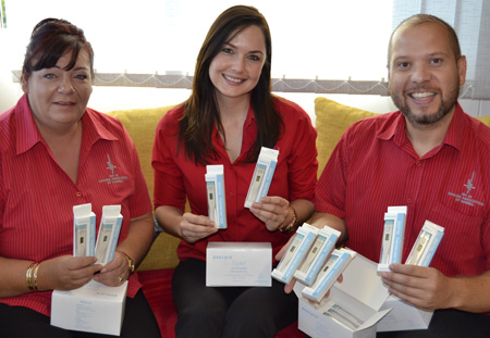 Cancer Association receives 100 thermometers from Erongomed