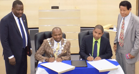 Cities of Windhoek, Kingston ink twinning agreement