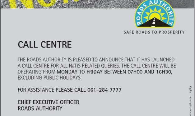 NaTIS offices reopen on Thursday 07 May