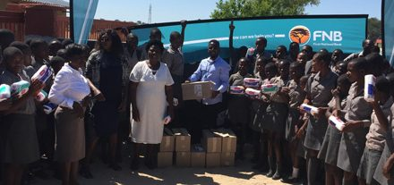 Disadvantaged girls get sanitary pads to keep them in school