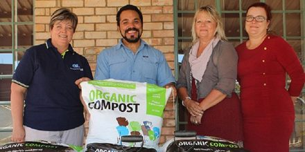 Organic farming project that generates funds for distressed children receives compost boost