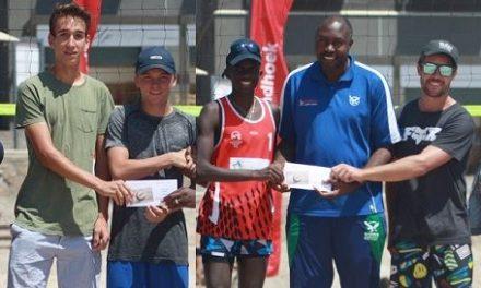 Upcoming new team shines at mini beach volleyball tournament in Swakopmund