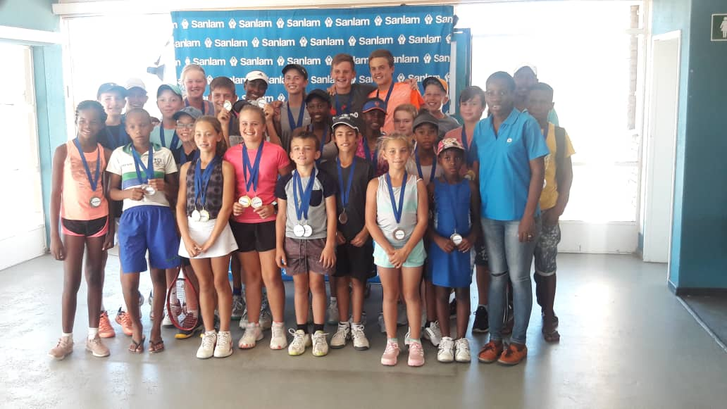 Junior tennis players serve up some spectacular action at Sanlam's first tourney