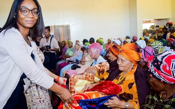 Elderly residents of five Karas homes receive winter items from multi-national brewer
