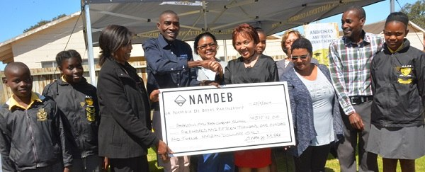 Oranjemund school secures half a million dollar in funding from Namdeb employees