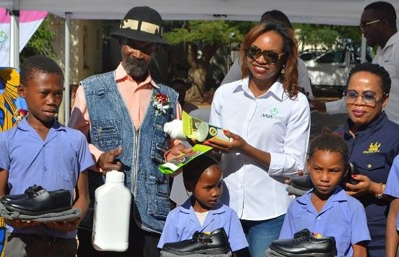 Oshivelo's Ondera San community helped by the MVA Fund to grow their own veggies