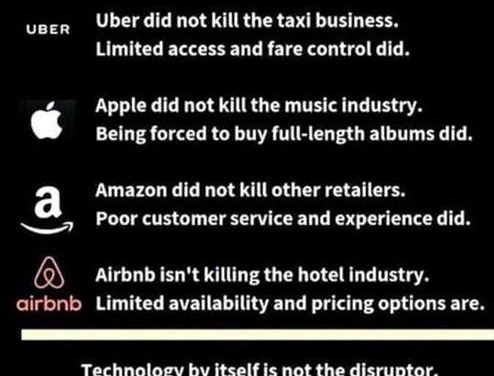 Technology disrupts absolutely