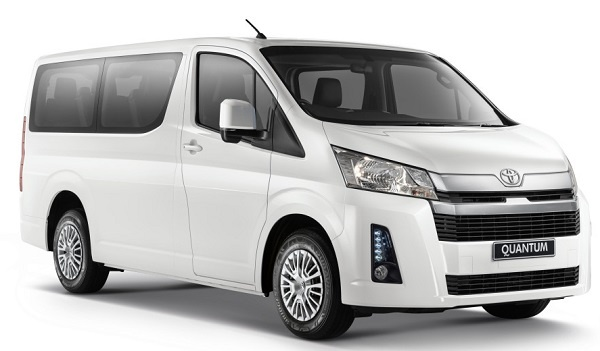 Toyota's popular minibus, the Quantum now in new guise with short nose