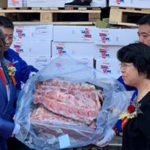 Beef exported to China distributed to the Asian market