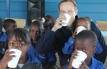 Dairies donates more than 3000 litres of milk to school children