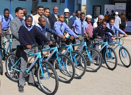 Immanuel Shifidi learners now ride to school on their own bicycles