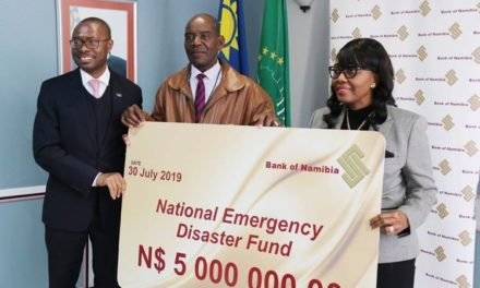 National emergency disaster fund gets N$5 million boost from central bank