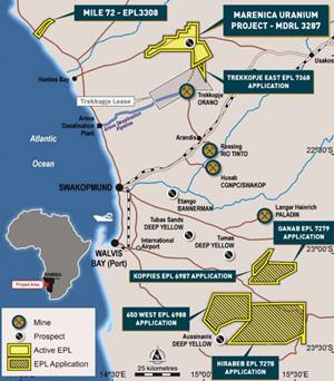 Marenica raises AU$1.6 million to continue uranium exploration in Erongo Region