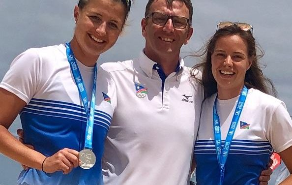 Women beach volleyball players make their mark in Cape Verde, bringing home a first-ever Silver
